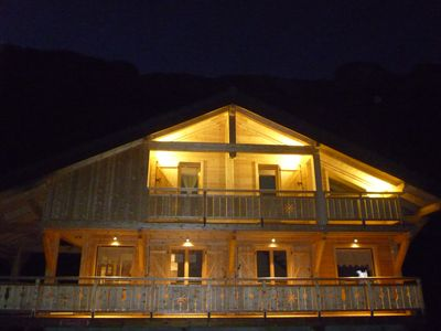 Chalet between lakes and mountains with terrace, jacuzzi and sauna