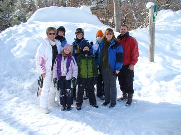 Our family on a ski trip!