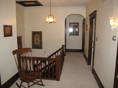 The upstairs hallway.