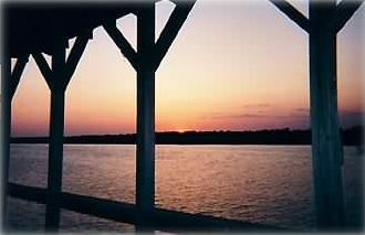 Gorgeous Sunset from our Deepwater Dock on Beautiful Isle of Palms . . . 'Ahhhh'
