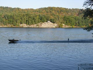 Lake Bomoseen house photo - Enjoy the views of waterskiing from the deck