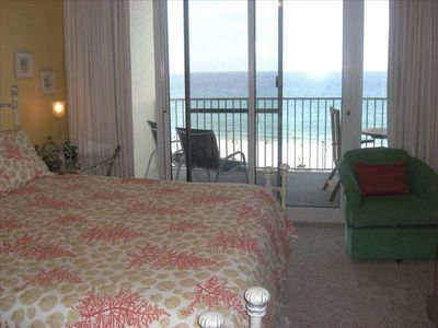 Master with King Bed open to Balcony overlooking the BEACH!!
