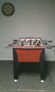 new foosball table for the guests
