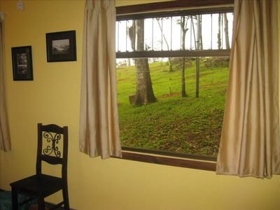 The casita has many screened windows for you to enjoy the birds from.