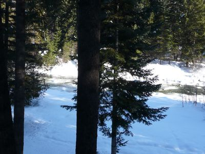 Leavenworth cabin rental - How can a river freeze? Gold rush is over!