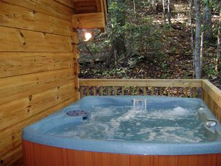Gatlinburg chalet photo - Large hot tub secluded on the upper deck!