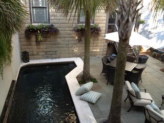 Savannah house photo - View of pool and courtyard from carriage house