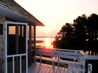 Chincoteague Island house photo - Grab some coffee and enjoy the sunrise from Spinnaker's decks, Chincoteague VA