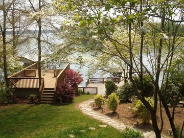 Weiss Lake house rental - View of Lake From House (2 decks and a dock)
