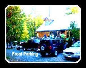 Twain Harte cabin photo - Flat Parking; Just 4 steps to front door!