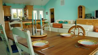 Great Exuma house photo - Dining room table set for 8