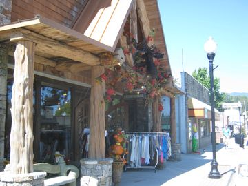 Shopping is always fun in downtown Bryson City! Look a sale!!