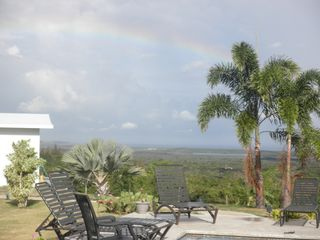Vieques Island property rental photo - Rain bow over the Caribbean