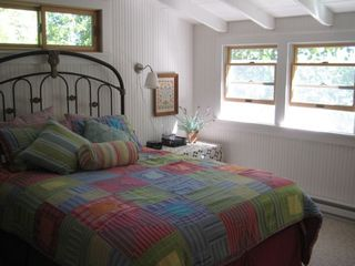 Master Bedroom with window air conditioner and lakeview