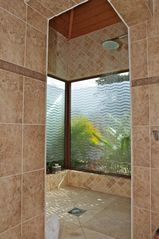 Orient Bay villa photo - Suite 1 - walk in shower, amazing corner design!
