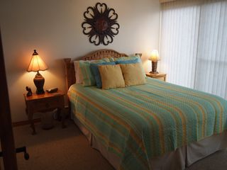 Dillon condo photo - Lake View Bedroom features Colorful new Bedding!