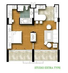 Hua Hin condo photo - condo 701- condo plan 66sqm