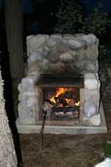 Province Lake cabin photo - Outdoor fireplace