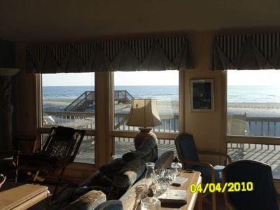 View of beach from main living area - spectacular!