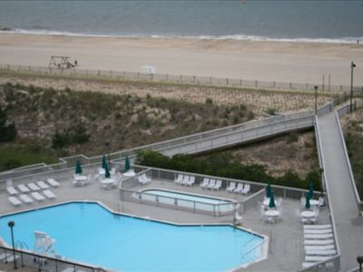 View of Edgewater pool..one of 5 outdoor pools, from huge deck.