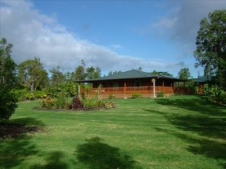 Pahoa house photo - 2 acres Angel House far view.