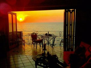 Puerto Vallarta condo photo - Magnifiecnt Sunset on your Balcony !