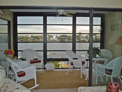 Vanderbilt Beach condo rental - The lanai overlooking Vanderbilt Bay