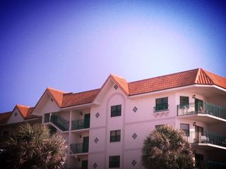 St Pete Beach condo photo - This is my top floor condo showing both the front and side balcony