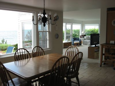 Harwich - Harwichport house rental - Combined dining room / kitchen. Table expands for larger parties.