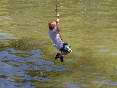 Get ready for hours of fun on the rope swing