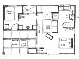 "Haiku studio photo - Studio Ground Floor Plan ""Attached Unit"""