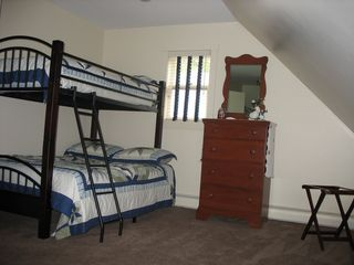 Bridgewater Corners farmhouse photo - Bunk room- 2 twins 2 full beds- another view
