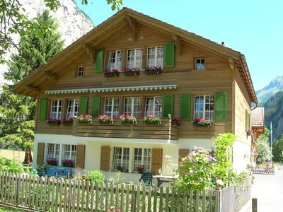 Lauterbrunnen chalet rental - Summer view of Chalet Bärli, 2011
