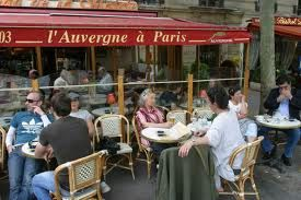 A typical café terrace in Paris