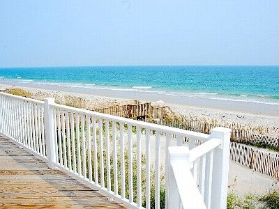North Topsail Beach house rental - View from the 2nd floor deck off the dining room