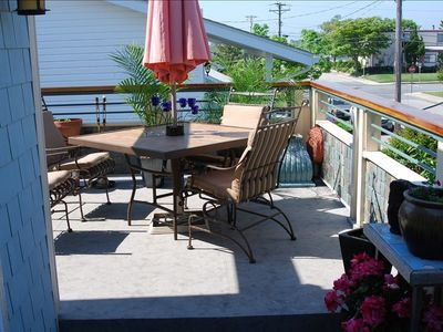 Terrace (12'x30') is ready for your bay view sunset party or intimate dinner