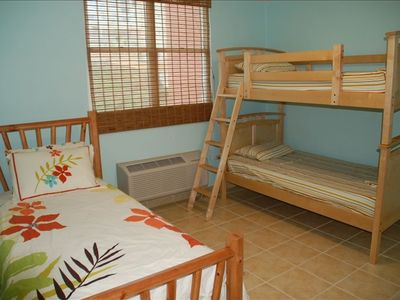 Bunk room - Twin bed has trundle bed, sleeps 4 - With Flat Screen TV!