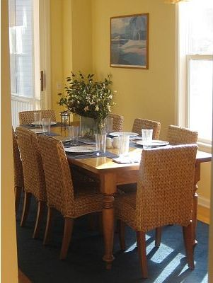 Dining room with marsh views - seating for 8