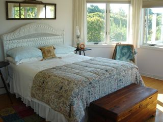 Master bedroom not big but beautiful views - Narragansett estate vacation rental photo