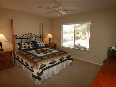 Second bedroom w/Queen size bed, triple dresser, tv & lots of closets