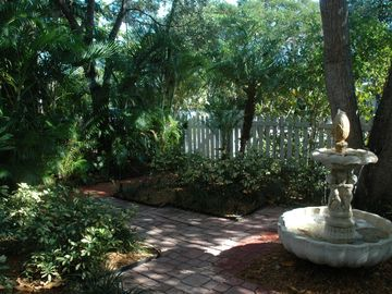 front garden with working fountain
