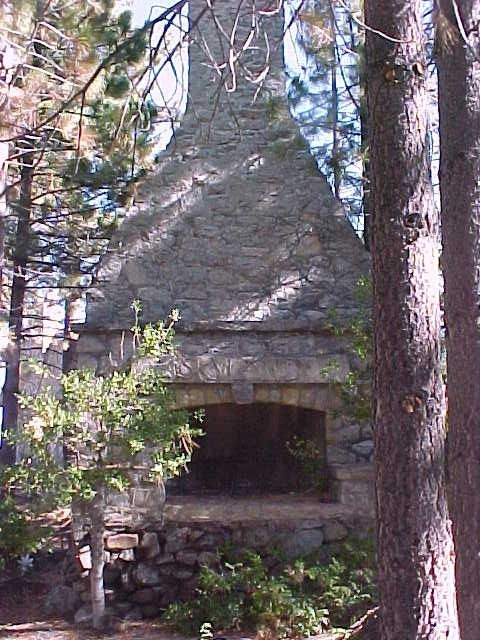 Remains of the chimney from the lodge that named the neighborhood of Skyland.