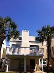Studio is located on the ground floor with the 3bd/2ba villa above.