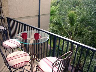 Forest Beach condo photo - Balcony overlooking gardens
