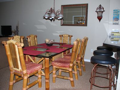 Dining Room with Extra Seating at Bar
