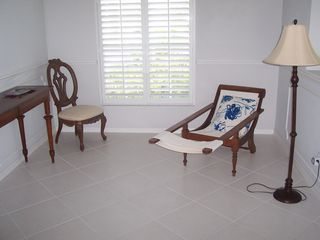 East Naples house photo - Foyer Sitting Area with Caribbean Lounge Chair