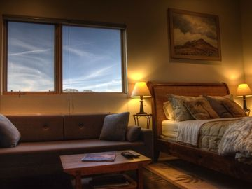 Bryce Canyon house rental - Upstairs bedroom with convertible couch to queen-size foam bed.