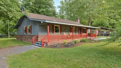 Shady Creek with Front Covered Porch with Rocking Chairs & Mountain View