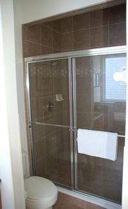 Oversized master bathroom | huge walk in shower|