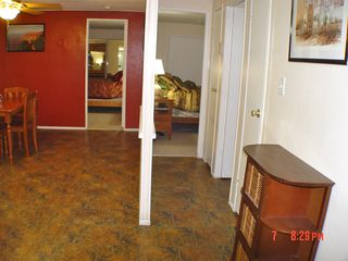 Green Valley mobile home photo - Master Bedroom(queen) on the left and Guest (standard) on the right with full BR